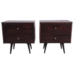 Paul McCobb Planner Group Mid-Century Modern Nightstands, Newly Refinished
