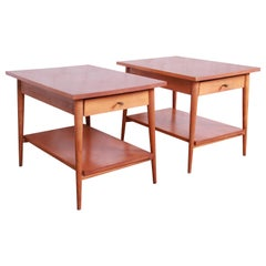 Paul McCobb Planner Group Mid-Century Modern Nightstands or End Tables, Pair
