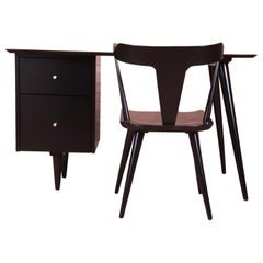 Paul McCobb Planner Group Mid-Century Modern Writing Desk and Chair, Restored