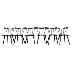 Paul McCobb Planner Group Midcentury Spindle Back Dining Chairs, Set of Six