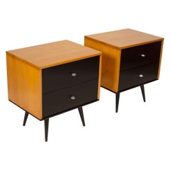 Paul McCobb Planner Group Series Solid Maple Nightstands for Winchendon