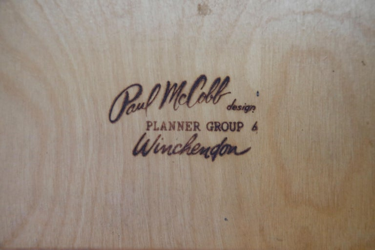 Paul McCobb Planner Group Side Table or Nightstand for Winchedon, circa 1950 For Sale 12