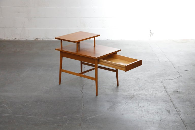 Brass Paul McCobb Planner Group Side Table or Nightstand for Winchedon, circa 1950 For Sale