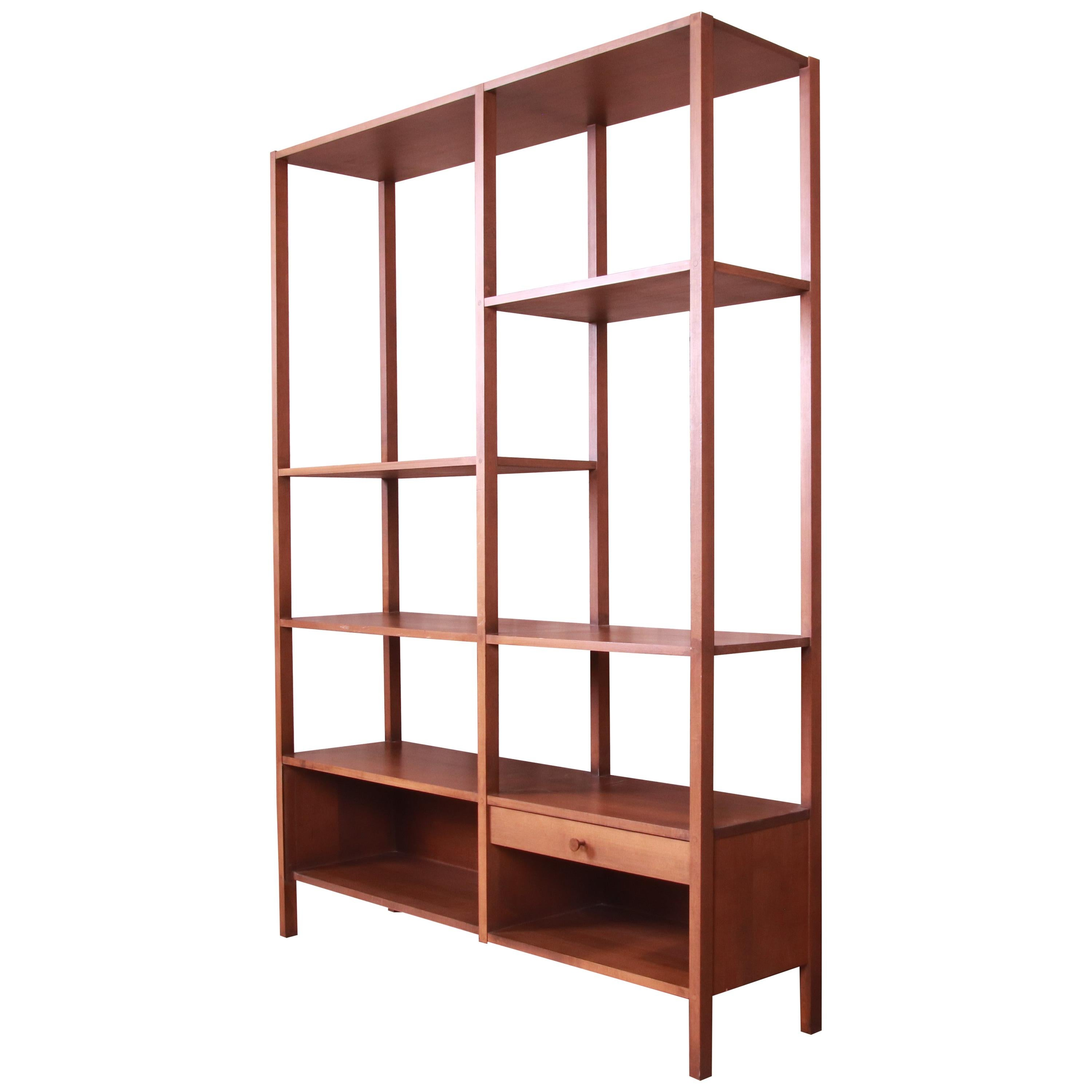 Paul McCobb Planner Group Solid Birch Bookshelf Wall Unit or Room Divider, 1950s