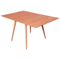 Paul McCobb Planner Group Solid Maple Drop-Leaf Dining Table, Newly Refinished