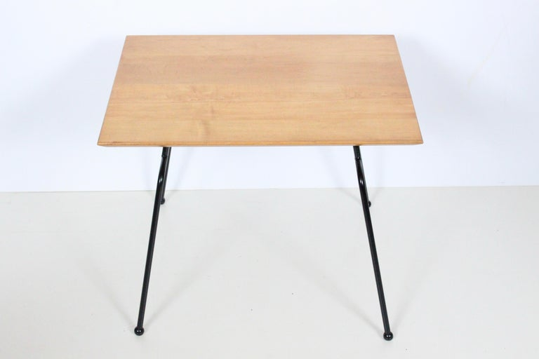 Mid-Century Modern Paul McCobb Planner Group Wrought Iron & Birch Occasional Table, C. 1950 For Sale