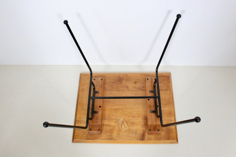 Paul McCobb Planner Group Wrought Iron & Birch Occasional Table, C. 1950 For Sale 2