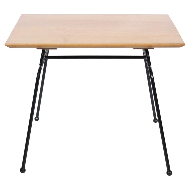Paul McCobb Planner Group Wrought Iron & Birch Occasional Table, C. 1950 For Sale