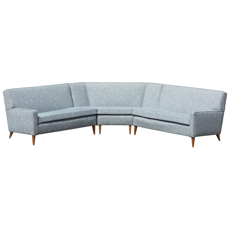 Paul McCobb Sectional Corner Sofa Custom Craft/ Planner Group Newly  Upholstered