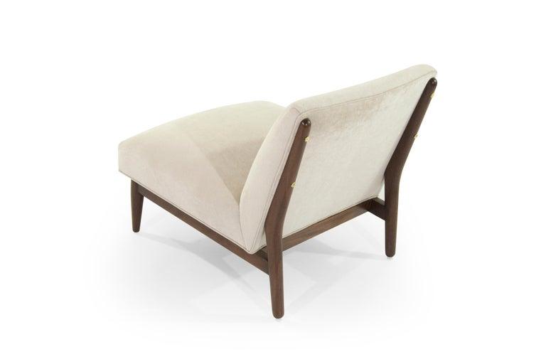 Velvet Paul McCobb Slipper Chairs, 1950s For Sale