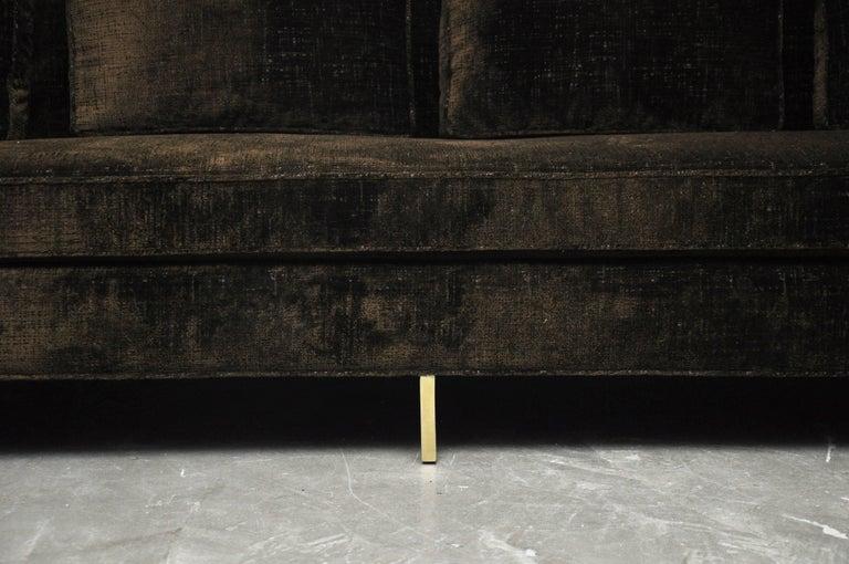 Mid-Century Modern Paul McCobb Sofa on Brass Bases For Sale