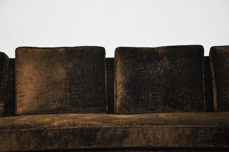 American Paul McCobb Sofa on Brass Bases For Sale