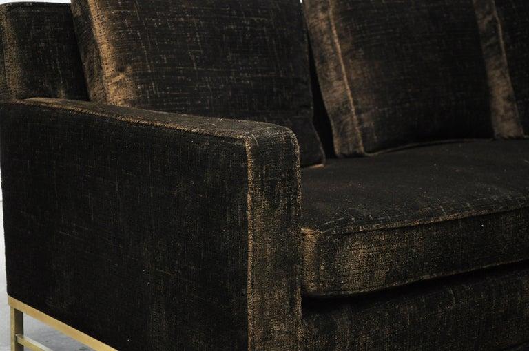Mid-20th Century Paul McCobb Sofa on Brass Bases For Sale