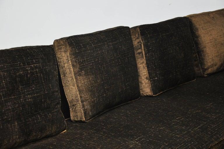 Paul McCobb Sofa on Brass Bases For Sale 2