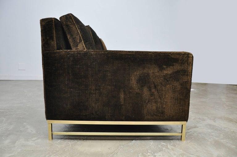 Paul McCobb Sofa on Brass Bases For Sale 3