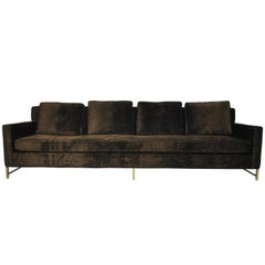 Paul McCobb Sofa on Brass Bases