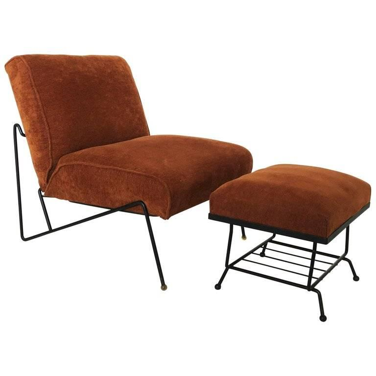 Mid Century Modern Lounge Chair and Ottoman