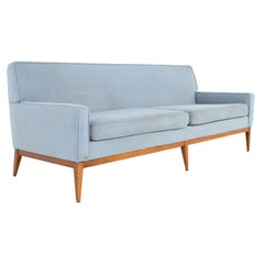 Paul McCobb Style Mid Century Blue Sofa