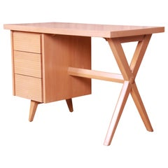 Paul McCobb Style Mid-Century Modern Maple Desk and Chair, 1950s