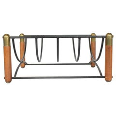 Paul McCobb Style Midcentury Magazine Rack or Log Holder