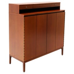 Paul McCobb Tall Gentlemen's Chest with Jewelry Drawers and Flip Up Mirror