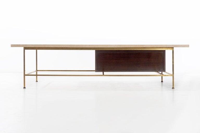 Paul McCobb Travertine Coffee Table For Sale 1