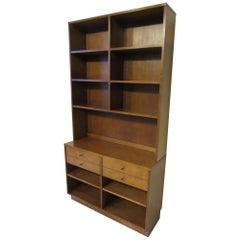 Paul McCobb Zweiteiliger Schrank mit Bücherregal