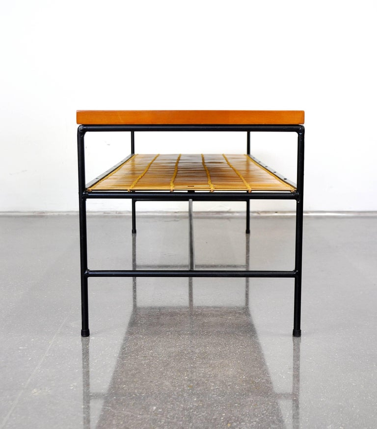 Mid-Century Modern Paul McCobb Winchendon Iron and Maple Coffee Table For Sale
