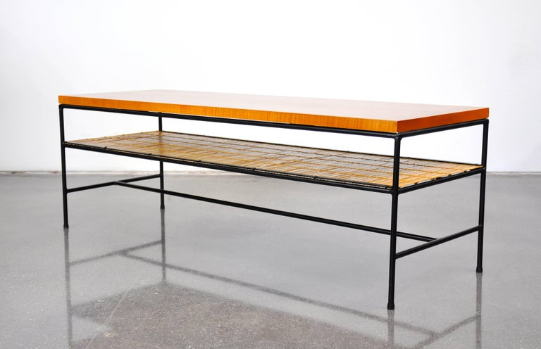 Paul McCobb Winchendon Iron and Maple Coffee Table For Sale 2