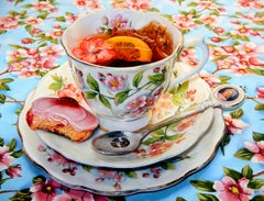 Her Majes-Tea by Paul McKnight. Oil on canvas. Framed.