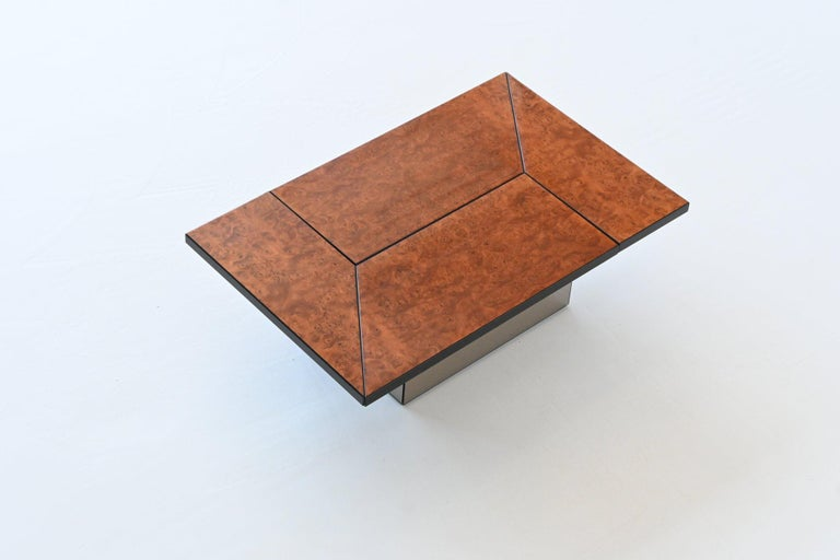 Paul Michel Cocktail Bar Coffee Table Burl Wood, France, 1970 For Sale 5
