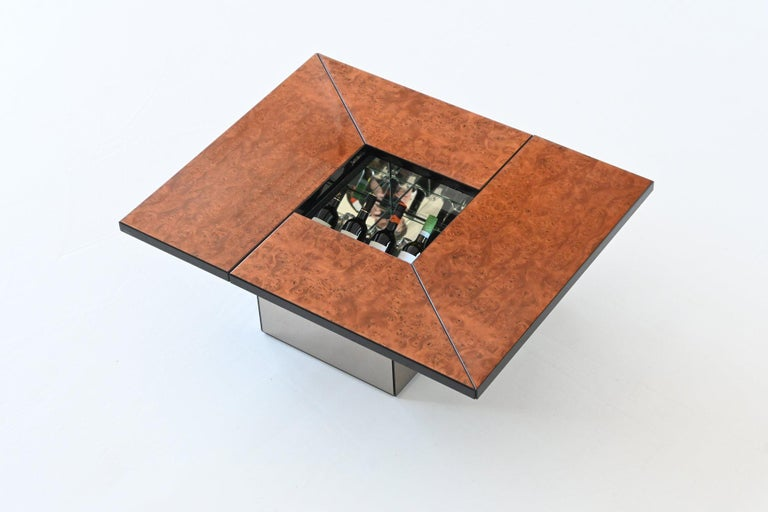 Paul Michel Cocktail Bar Coffee Table Burl Wood, France, 1970 For Sale 6
