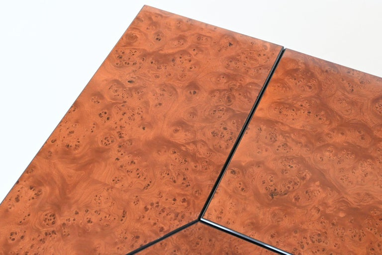 Paul Michel Cocktail Bar Coffee Table Burl Wood, France, 1970 For Sale 2