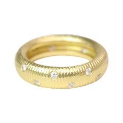 Paul Morelli 18k Yellow Gold Band with Diamonds