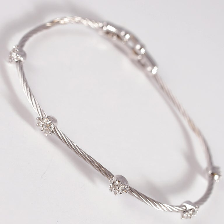 Paul Morelli Diamond Bracelet from the Cluster Collection In Good Condition For Sale In Dallas, TX
