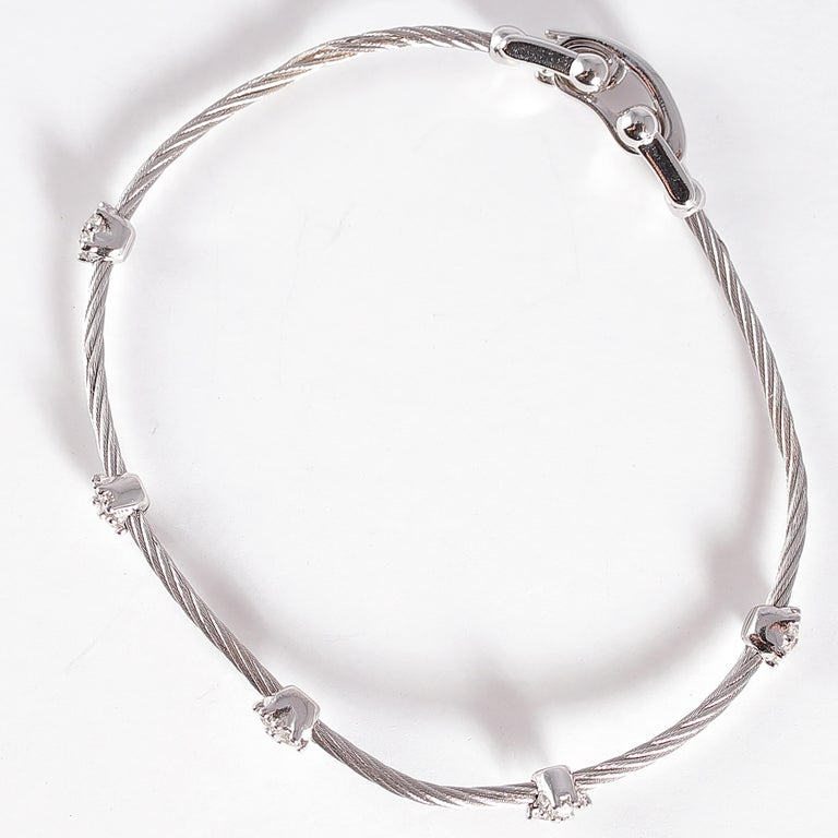 Women's or Men's Paul Morelli Diamond Bracelet from the Cluster Collection For Sale