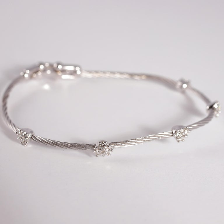 Paul Morelli Diamond Bracelet from the Cluster Collection For Sale 1