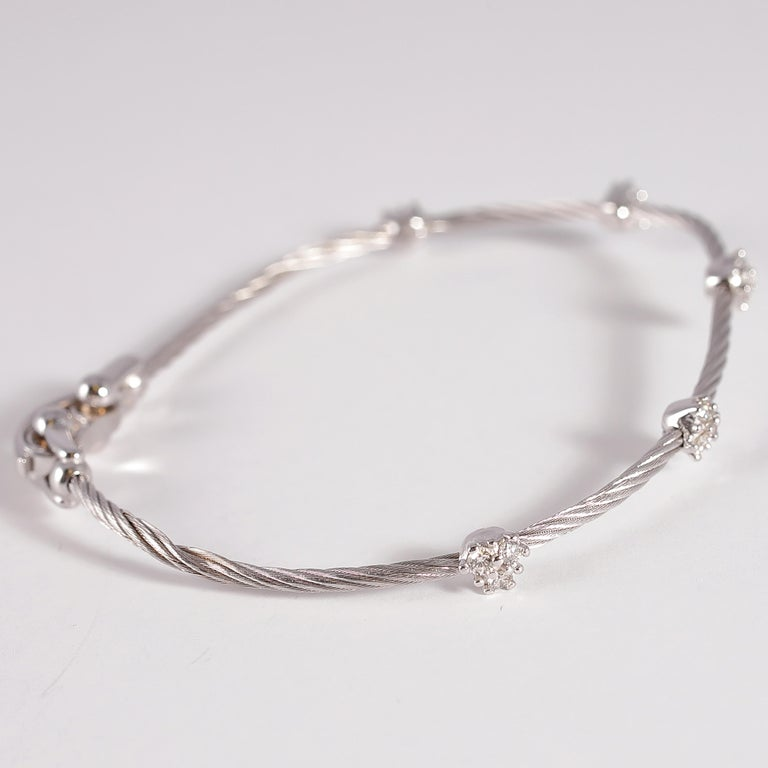 Paul Morelli Diamond Bracelet from the Cluster Collection For Sale 4