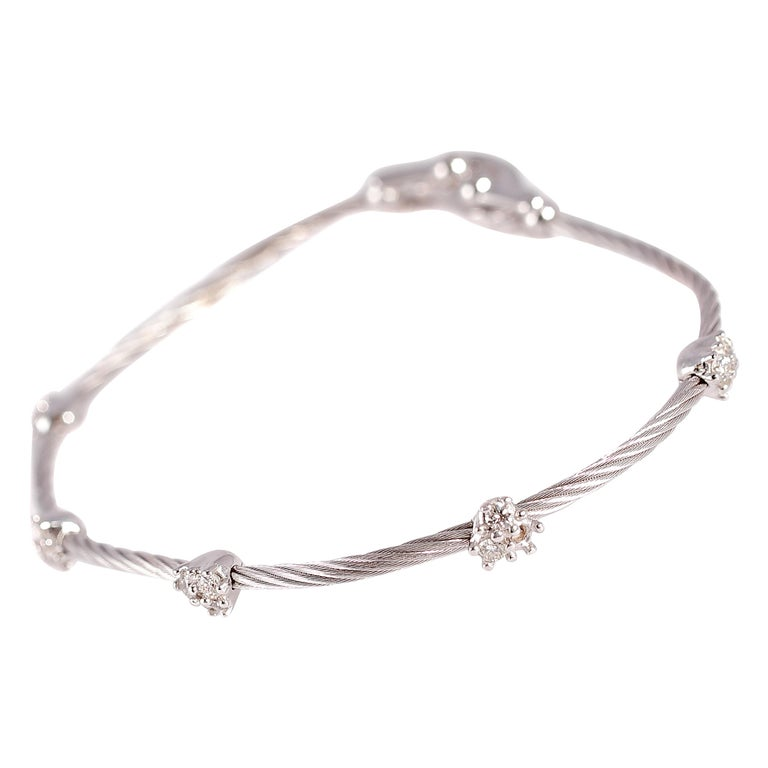 Paul Morelli Diamond Bracelet from the Cluster Collection For Sale