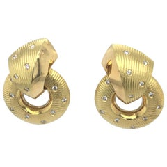 Paul Morelli Yellow Gold Diamond Earrings