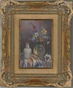 Paul Morgan (b.1940) - 20th Century Oil, Still Life with a Flower Vase