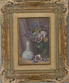Paul Morgan (b.1940) - 20th Century Oil, Still Life with Delicate Flowers