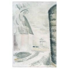 Paul Nash, Haystack, Oxenbridge Farm, Iden, Watercolour, Paper, 1923, Redfern