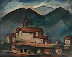 Village et collines - Village and hills