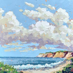 """""""Clay"""" abstract impasto painting of the Aquinnah Cliffs on Marthas Vineyard"""