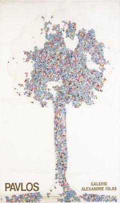 1980 After Paul Pavlos 'Galerie Alexander Iolas' Contemporary Multicolor