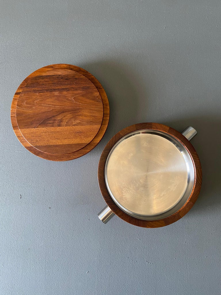 Paul Pedersen Combiwood Serving Bowl for Lundtofte of Denmark, circa 1960 For Sale 1