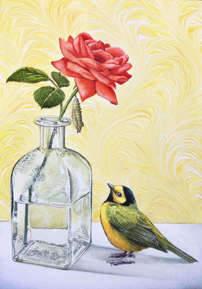 Paul Pitsker Animal Painting - Watching