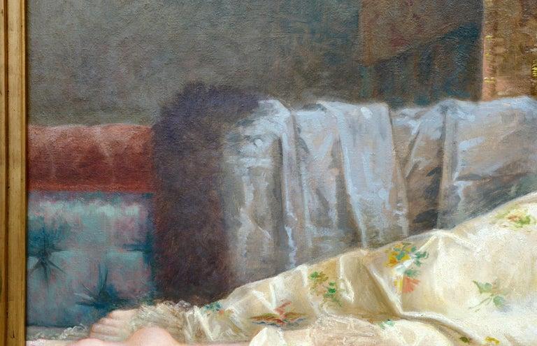 Romantic Paul Prosper Tillier, a Sleeping Beauty, 1870s For Sale