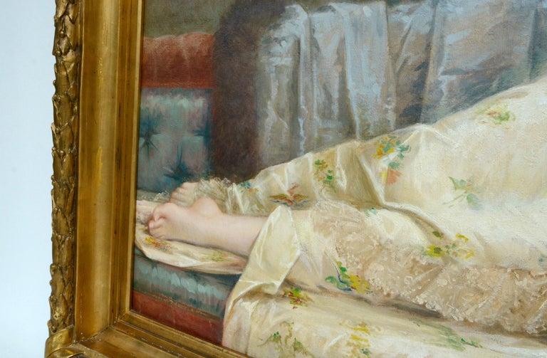 Paul Prosper Tillier, a Sleeping Beauty, 1870s In Good Condition For Sale In Kiel, Schleswig-Holstein